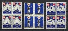 Poland 1941 Polish Government exile London Plane Soldier Red cross blocks 4 MNH