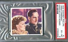 1939 Famous Love Scenes Card #1 GRETA GARBO Fredric MARCH Anna Karenina PSA 6