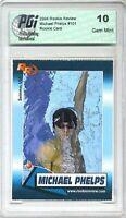 10) 2004 Michael Phelps Olympics Rookie Review card Lot PGI 10