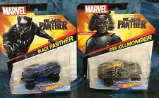 THE BLACK PANTHER AND KILLMONGER Hot Wheels. Brand New Set Of 2. Limited Edition