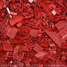 LEGO 1lb DARK RED~400 Pieces-SANITIZED-Bulk Pound Lot Brick Part Random Assorted