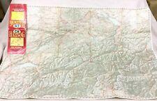 1967 Vintage Road Map of Switzerland Swiss Hallwag Automobile Touring Motorcar