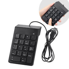 UK_USB Number Pad Numpad Numeric Keypad 18 Keys Keyboard For Laptop Desk vb$m