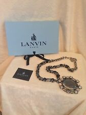 "NEW LANVIN PARIS BLUE IRIDESCENT STONE Long Necklace 30""  $2,300"