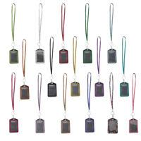 Porte-badge d'identification strass brillant avec fournitures de bureau de longe