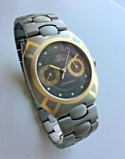 Omega Seamaster Titane Quartz Polaris Titanium Case Bracelet Calendar Wristwatch