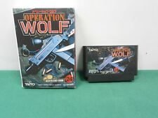 OPERATION WOLF -- w/ fake paper box. Famicom. NES. Japan game. Work fully. 10174