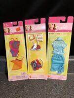 Barbie Doll Lot 3x Swimsuit Scarf Sunglasses Sun & Sea Go In Style 1999-2002
