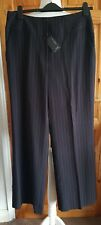 Ladies Next Tailored Work Trousers 12R Wide Leg Pinstripe Smart Formal Event