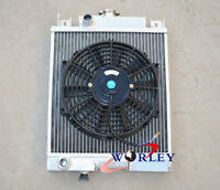 For SUZUKI SWIFT GTI 1.0 1.3 1.6 1989-1994 Manual Aluminum Radiator & FAN