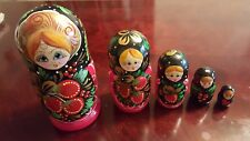 Russian Hand Painted Nesting Doll Matryoshka 5 pcs
