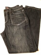 style & co Barely Boot 14 Blue Dark Wash Thick White Stitch Jeans. Adorable