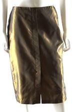 Carla Zampatti Dark Gold Metallic Straight Evening Festive Skirt Size 10