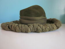 Dachettes Womens Hat Designed by Lilly Dache Contessa Forest Green Italian Made