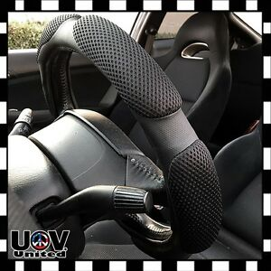 Vintage Protector Leather Hand Pad Buffer Cushion Steering Wheel Cover Slip-On M