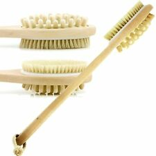 Bristle Body bath Brush Back Scrubber long Handle natural wooden shower loofah