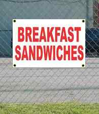 2x3 BREAKFAST SANDWICHES Red & White Banner Sign NEW Discount Size & Price