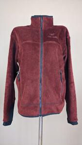 Arc'Teryx Women's Navy Full Zip Fleece Jacket  Red Size M