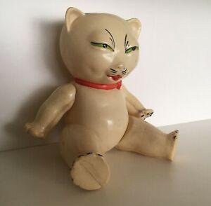 Vintage celluloid cat toy