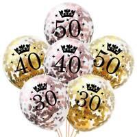 5x or rose joyeux anniversaire Bunting bannière ballons party décoration