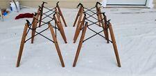 4 Herman Miller Shell mid century modern fiberglass shell chair bases Wide mount
