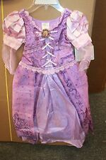 Girls Disney Store Tangled Rapunzel Dress Up Costume Pretend Size Lg 10 NWT