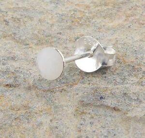Single Mens 925 Silver 4mm White Crystal Stud Earring.M2016