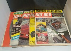 Vintage Hot Rod Magazine Lot of 5 Issues 1960s Dragster