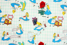 Alice in Wonderland Fabric made in Korea made in Korea Cotton by the Yard