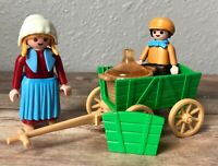 Playmobil Victorian 5501 Farmer's Wife Maid Boy Child Cider Cart Complete