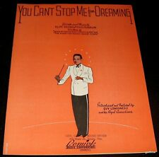 GUY LOMBARDO 1937  MINT ART PHOTO & MUSIC SHEET  YOU CAN'T STOP ME FROM DREAMING