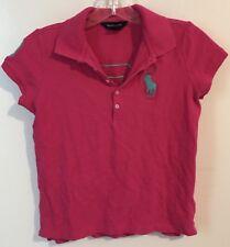Girl's Ralph Lauren Short Sleeve Polo Shirt Size XL(16) Hot Pink Big Horse Logo
