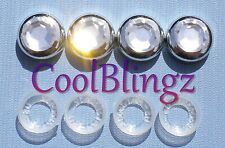 Clear Crystal Rhinestone Screw Caps for Diamond Sparkle License Plate Frame