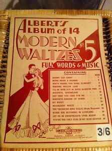 Collectors # 5 Albert's Album of 14 Modern Waltzes Words Music