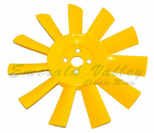 Classic Mini NEW Yellow Plastic 11 blade plastic fan  Austin, Morris, Cooper