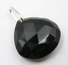 "Onyx Indian Jewelry Store Pendant 0.8"" 925 Sterling Silver Sparkling Cut Black"