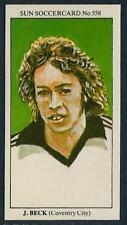 THE SUN 1979 SOCCERCARDS #558-COVENTRY CITY-QUEENS PARK RANGERS-JOHN BECK