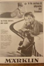 ADVERTISING PUBBLICITA'  MARKLIN un treno ancora piu reale  - 1969