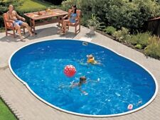 Stahlwandbecken 5,50 x 3,70 x 1,20 Oval Pool Swimmingpool Aufstellpool Poolfolie