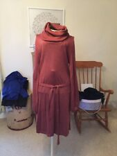 Oasis Ladies Brown Cowl Necked Jumper Dress Size Small
