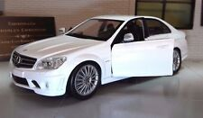 1:24 Scale White Mercedes C 63 C63 Class AMG V12 New Ray Diecast Model Car 71083