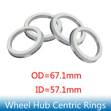 4X HCR 67.1 - 57.1 Hub Centric Rings 67.1mm to 57.1mm Hubrings 67.1 mm - 57.1 mm