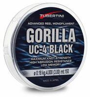Angel Schnur Tubertini Gorilla UC-4 Black 1000 m Nylon Meer Spinning Surfcasting