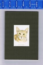 Egyptian Mau Cat Art Print - 5 X 7 Matted
