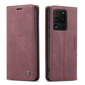 For Samsung Galaxy S21+ Ultra Note 20 Leather Flip Stand Wallet Card Cover Case