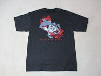VINTAGE Taz Tasmanian Devil Shirt Adult Extra Large Black Red Looney Tunes 90s