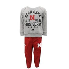 Nebraska Cornhuskers NCAA Infant Toddler Size 2 Piece Sweatshirt & Pants Combo