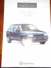 Vauxhall Novavan GAMA FOLLETO 1991 Ed 1