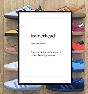 Trainerhead Definition - Adidas, Nike, Trainer Print Poster Wall Art A2 A3 A4 A5