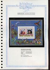 Isola dell' Unione 1985 Regina madre MNH fogli impostato nella pagina #V 442